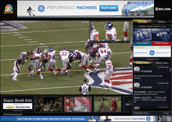 Streaming the Superbowl by NFL