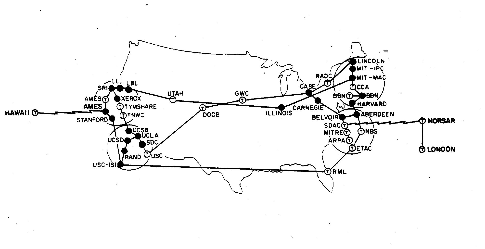 A map of the internet in 1973 yes all of it x post rpics september 1973 pooptronica Image collections